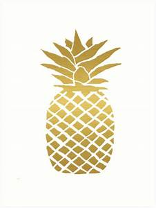 """gold foil pineapple"" Art Prints by ahclock Redbubble"