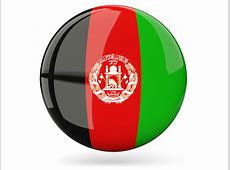 Glossy round icon Illustration of flag of Afghanistan