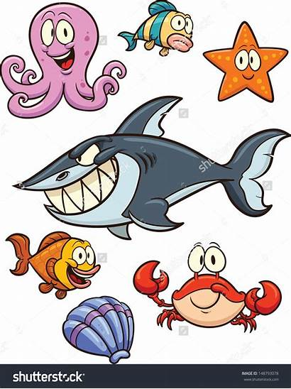 Sea Creatures Cartoon Creature Clipart Clip Illustration