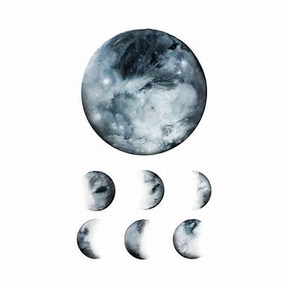 Moon Phases Tattly Tattoo Celestial Tattoos Realistic