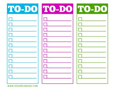 todo checklist a second semester to do list