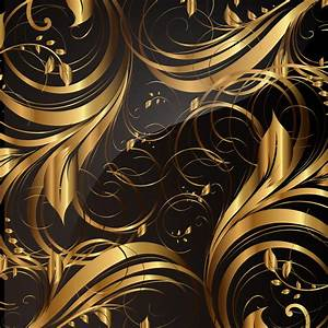 Gold pattern patterns 01 vector Free Vector / 4Vector