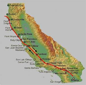 Modified Map Of San Andreas Fault   16
