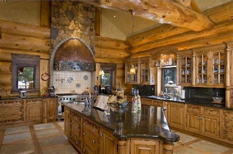 log home kitchens loveland cabins most epic log homes there are jebiga