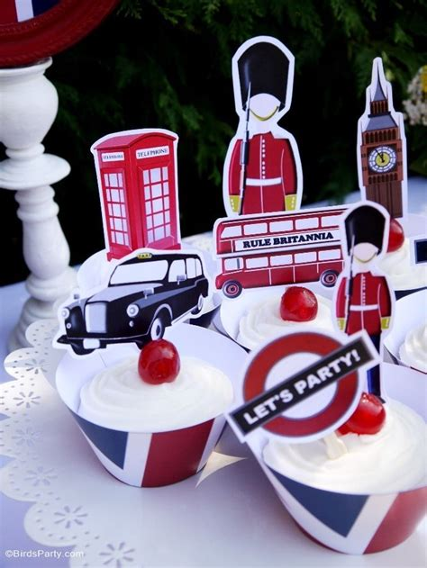 british inspired london uk party  printables party