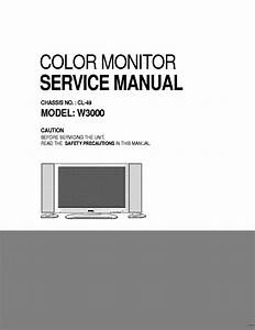 Dell W3000 Chassis Cl49 Lcd Monitor Service Manual