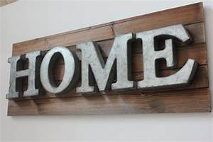 home metal letters galvanized zinc steel by designsbyembellish With metal letters for signs
