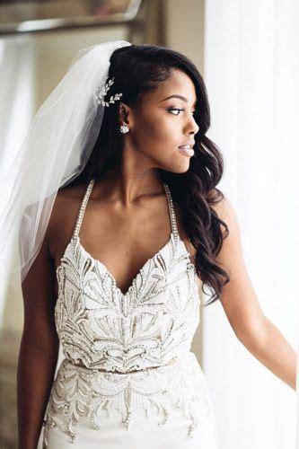 black women wedding hairstyles   wavy wedding