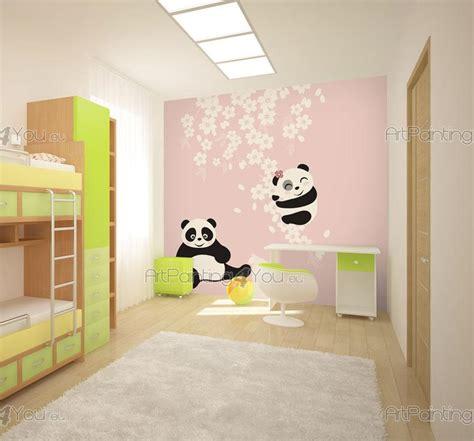 Poster Panda Babykamer by Fotobehang Kinderkamer Babykamer Canvas Printen