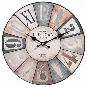 Horloge Murale Maison Du Monde : horloge en bois d 34 cm cosy maisons du monde ~ Teatrodelosmanantiales.com Idées de Décoration