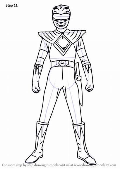 Ranger Rangers Power Draw Drawing Step Cartoon