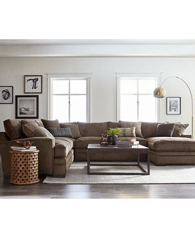 Living Room Furniture At Macy S by Closeout Teddy Fabric Sectional Collection Created For