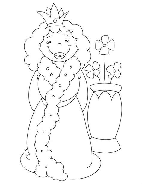 queen  vase coloring pages   queen