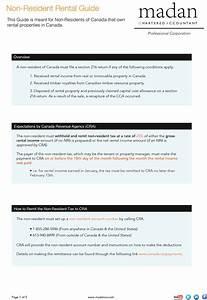 Non Resident Tax Return For Rental Properties Guide