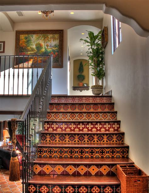 mexican home decor traditional staircase mexican style home decor house