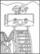 Coloring Carnival Pages Fair Ride Printable Popular Cartoon Kid Library Clipart Template sketch template