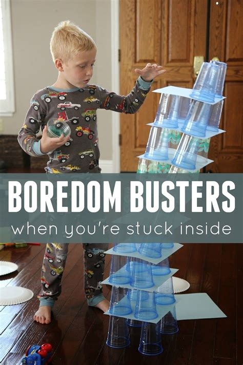 Boredom Buster Indoor Activities For Kids  Boredom Busters, Activities And Kid Activities