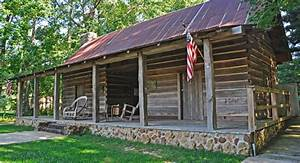dogtrot log cabin at the broadhead memorial park in With dog house needham
