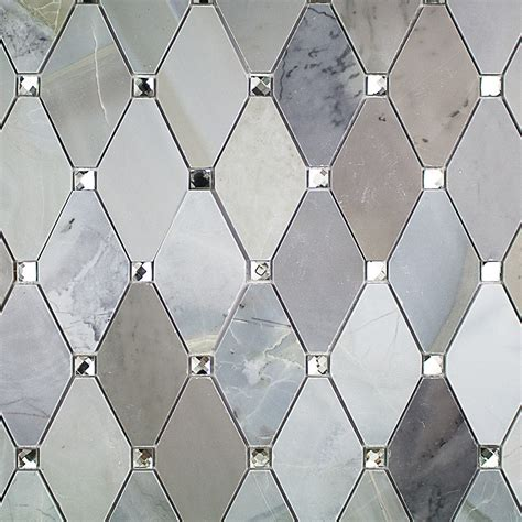 mirror glass tile reflection moonstone marble and mirrored glass tile