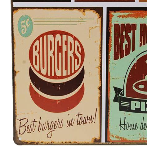 plaque aluminium cuisine food tin sign vintage retro metal plaque poster bar home