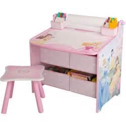 disney princess art desk with storage organization