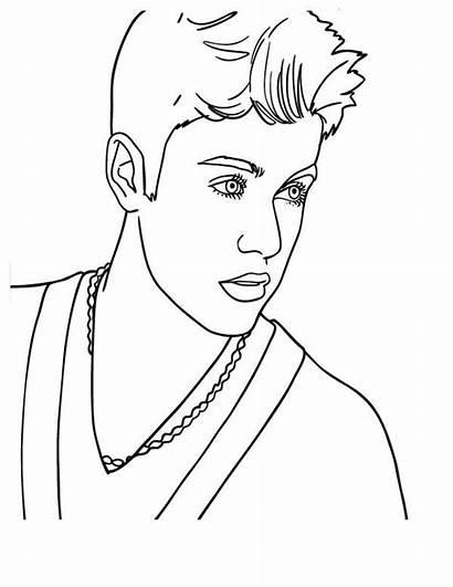 Bieber Justin Coloring Pages Singer Pop Celebrities