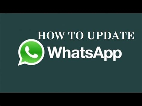 how to update on android how to update whatsapp on android