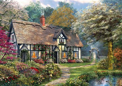 Victorian Garden Cottage Wooden Jigsaw  100  150 Pieces