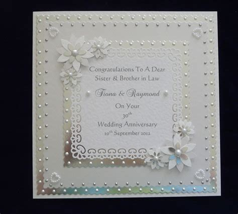 30th wedding anniversary color personalised pearl 30th wedding anniversary card with or without matching box ebay