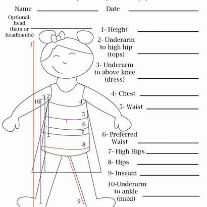 Chart Measurement Blank Printable Sewing Boys Patterns