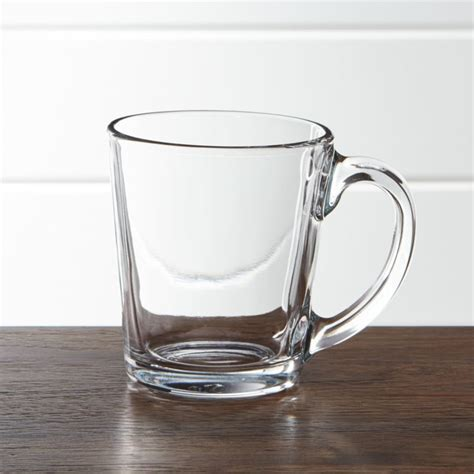 Tempo Clear Glass Coffee Mug   Crate and Barrel