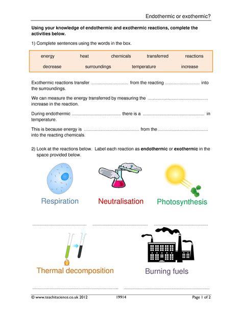 chemical reactions and energetics ks3 ks3 chemistry