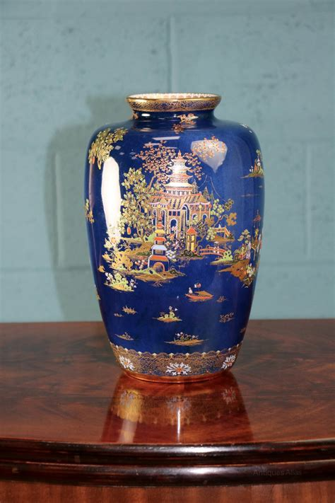 Carlton Ware Vase by Antiques Atlas Carlton Ware Blue Royal Pagoda Vase