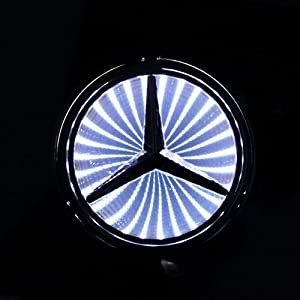 Nice, sharp lines on the logo, still has a very clearly visible red part (this light uses 3 leds! Amazon.com: 3d White Led Mercedes Benz Logo Badge Light Car Trunk Emblem Sticker Lamp: Automotive