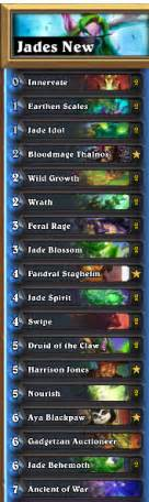 65 2 win rate legend jade druid complete deck guide competitivehs