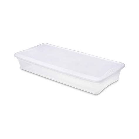 sterilite bed storage sterilite 41 quart underbed box 1960 bed storage box
