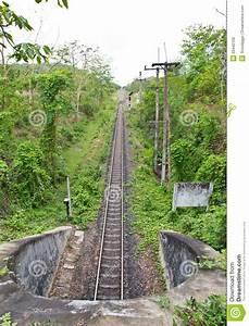 Railway Tunnel In Thailand Stock Photo