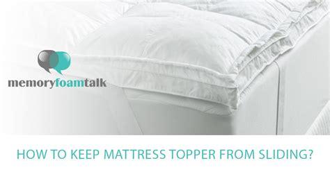 mattress topper  sliding memory foam talk