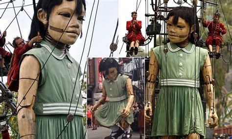 perth parade sees  metre  girl giant   pee