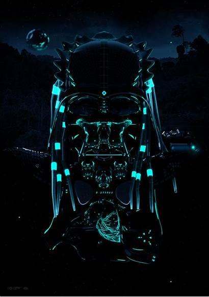 Neon Death Behance Motion Predator Outstanding Studio