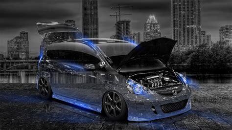 Honda Jazz 4k Wallpapers by Honda Fit Jdm Tuning City Car 2014 El Tony