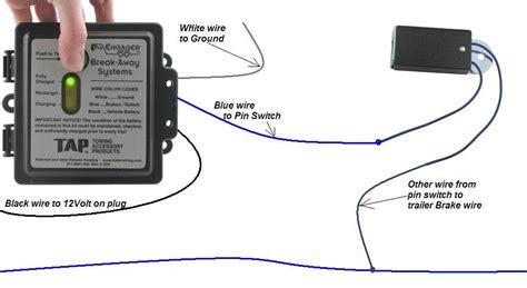 Tap Engager Trailer Break Away Led Brake Battery Switch