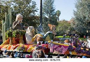 Floats decorated with flowers in the annual New Years Day ...