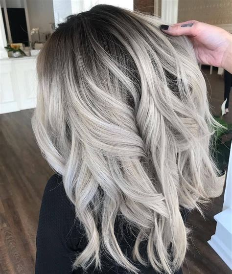 Balayage Ombre Shadowroot Grey Hair Color From
