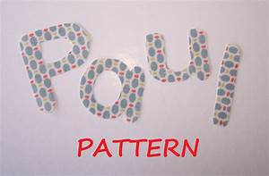 Alphabet letters pattern 15 fabric applique pdf by for Fabric letter templates