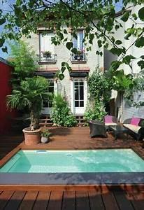 les 25 meilleures idees de la categorie jardin rustique With nice amenagement de piscine exterieur 6 terrasse couverte vieux bois