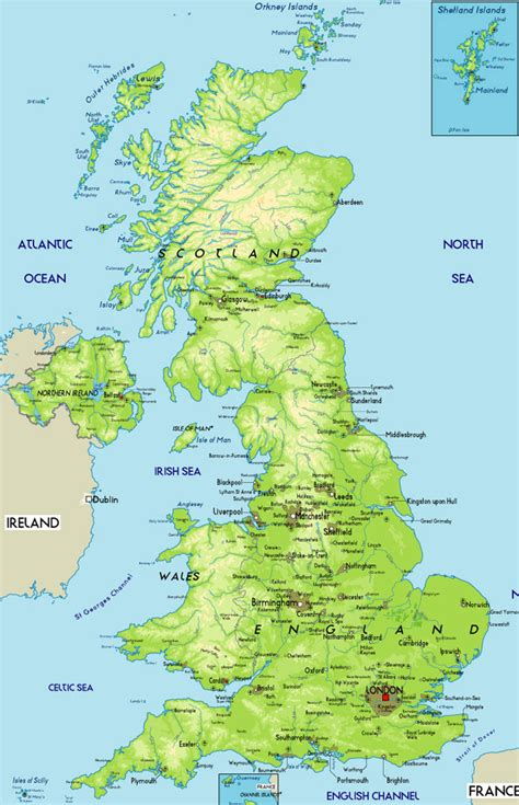 maps  britain political physical  road mapsof
