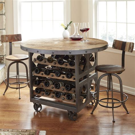 Industrial Wine Storage Pub Table   So That's Cool