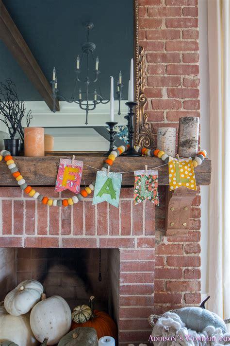 fall halloween living room decor  mantle ideas