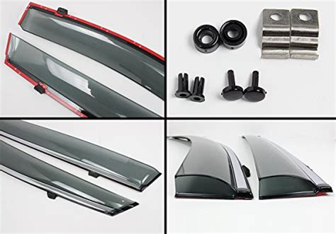 Cuztom Tuning Clip-on Type Smoke Window Visor Rain Guard W